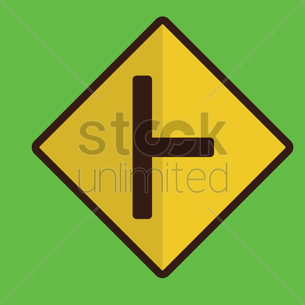 right t road sign vector graphic