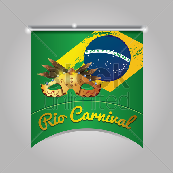 rio carnival pennant vector graphic