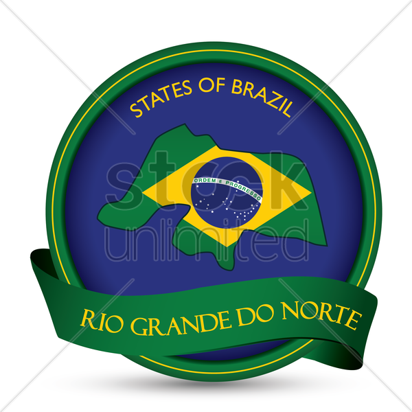 rio grande do norte map label vector graphic