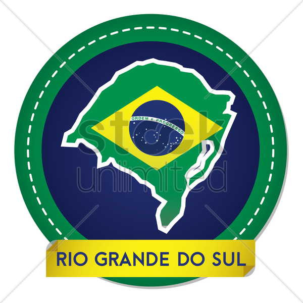 rio grande do sul map sticker vector graphic