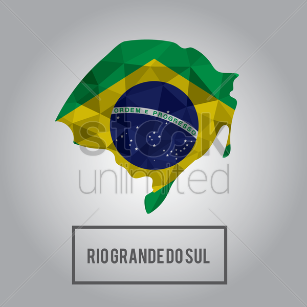rio grande do sul state map vector graphic