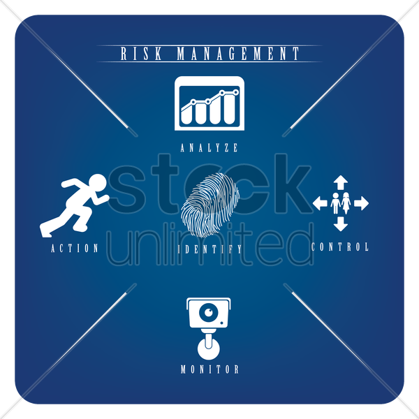 risk management icons vector graphic