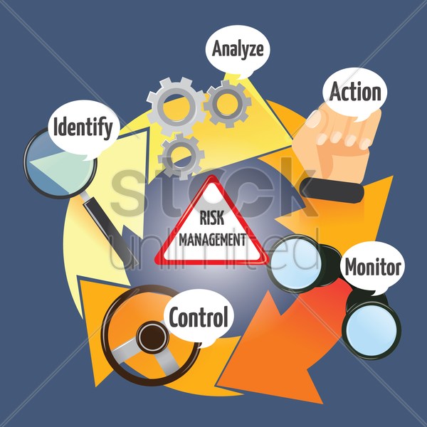 Free risk management vector graphic
