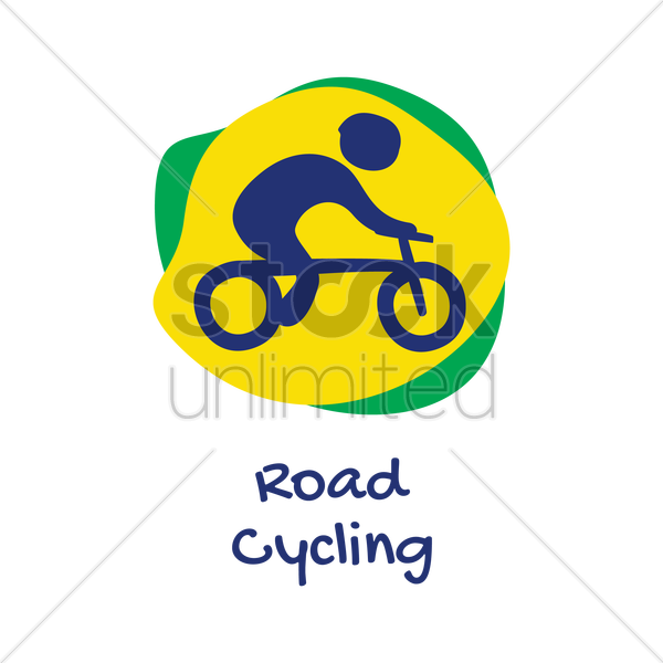 road cycling icon vector graphic