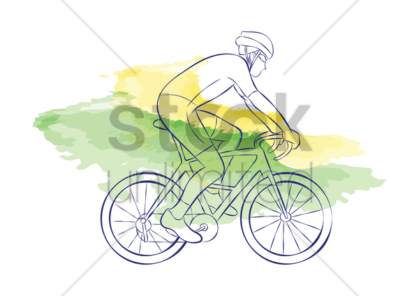 road cycling vector graphic