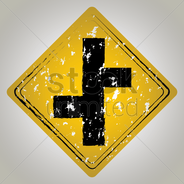 road junction sign vector graphic