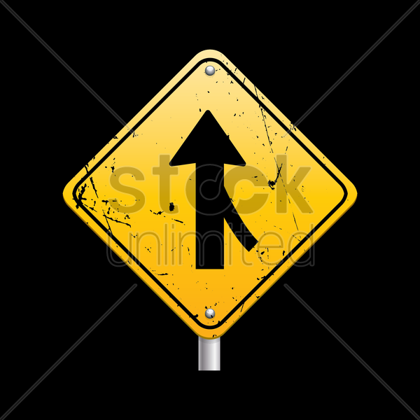 road merge from right sign vector graphic