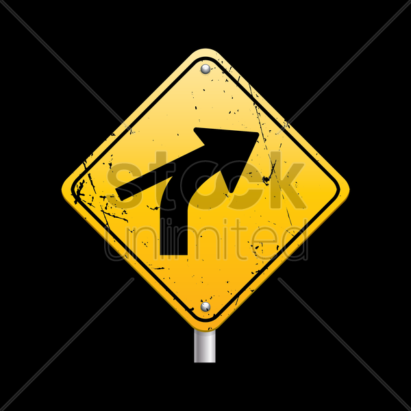 road merge sign vector graphic