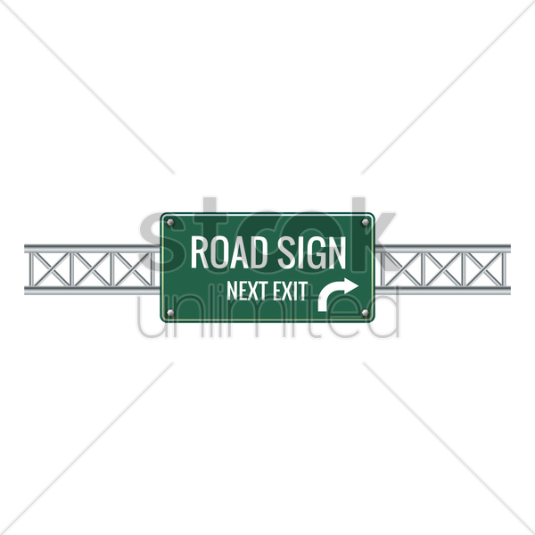 road sign next exit vector graphic