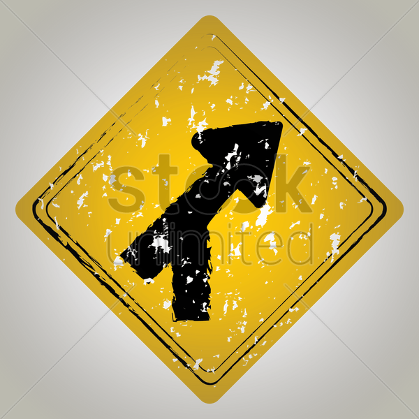 roadway merge road sign vector graphic
