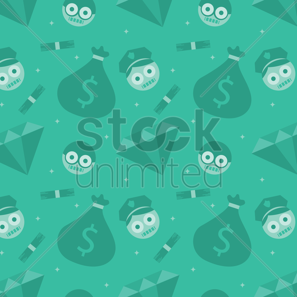 robber and police background vector graphic