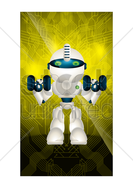 robot wallpaper for mobile phone vector graphic