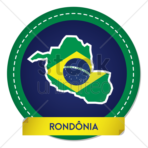 rondonia map sticker vector graphic