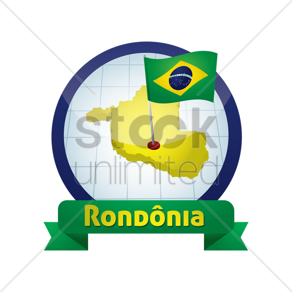 rondonia map vector graphic