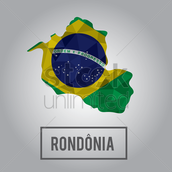 rondonia state map vector graphic