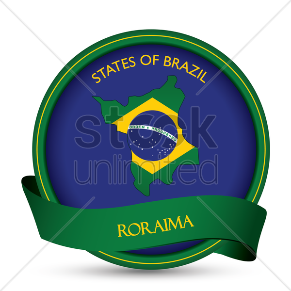 roraima map label vector graphic