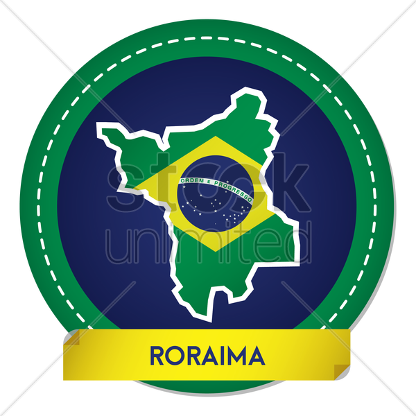 roraima map sticker vector graphic