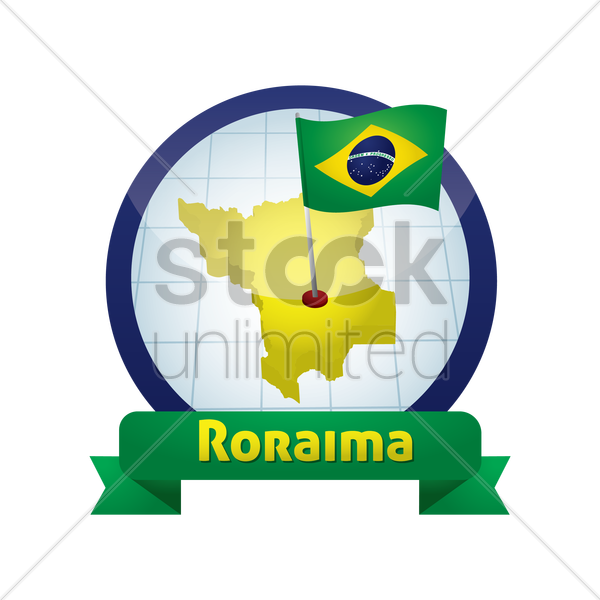 roraima map vector graphic