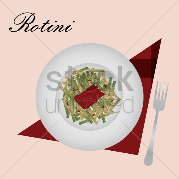 rotini vector graphic