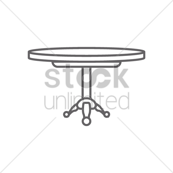 round table vector graphic