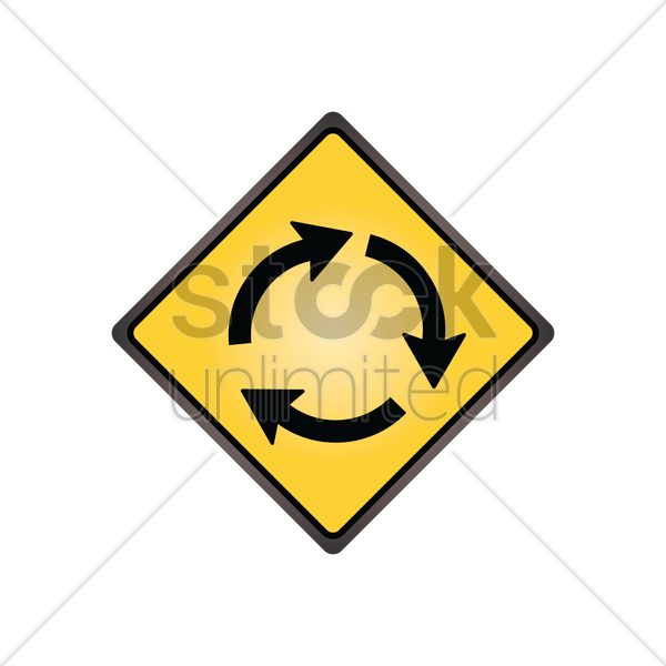 roundabout sign vector graphic