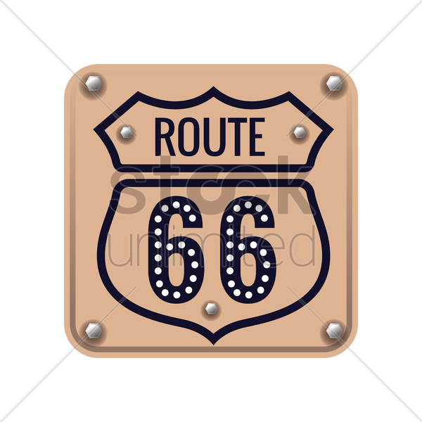route 66 sign vector graphic