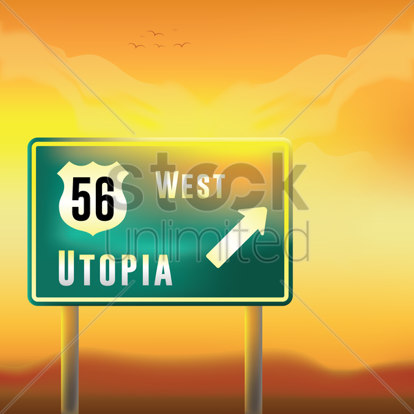 route fifty six utopia vector graphic