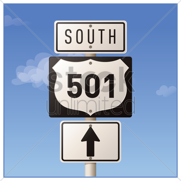 route five hundred and one road sign vector graphic