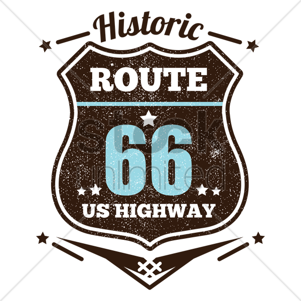 route sixty six vector graphic