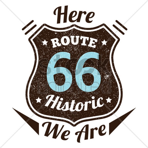 route sixty-six vector graphic
