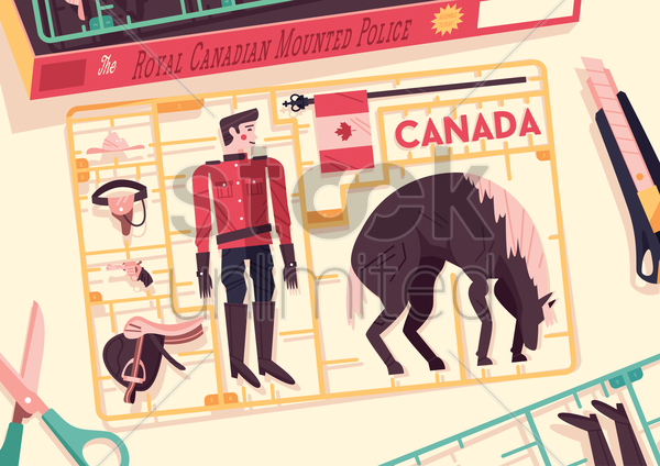 royal canadian mounted police vector graphic