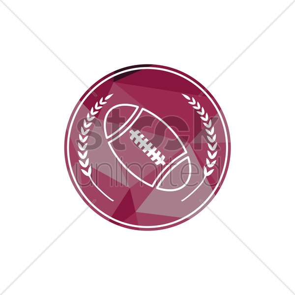 rugby ball vector graphic