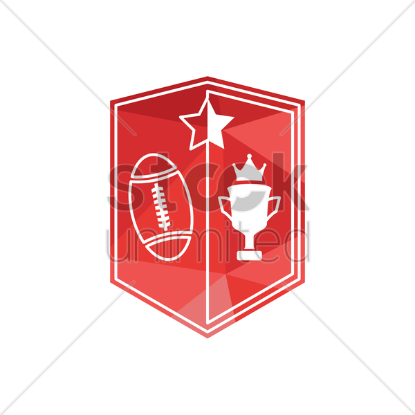 rugby emblem vector graphic