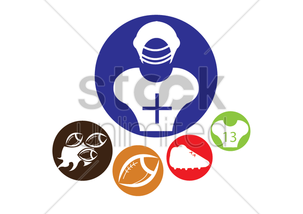 Free rugby items vector graphic