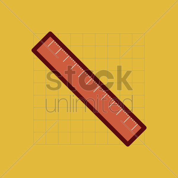 Free ruler vector graphic