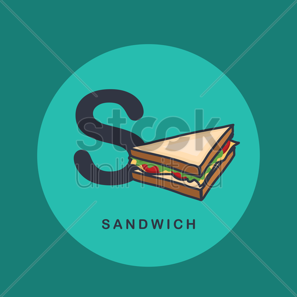 Free s for sandwich. vector graphic