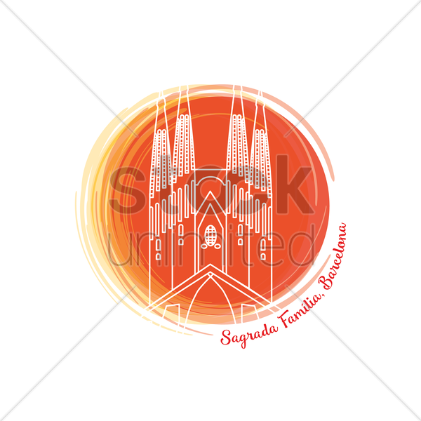 sagrada familia vector graphic