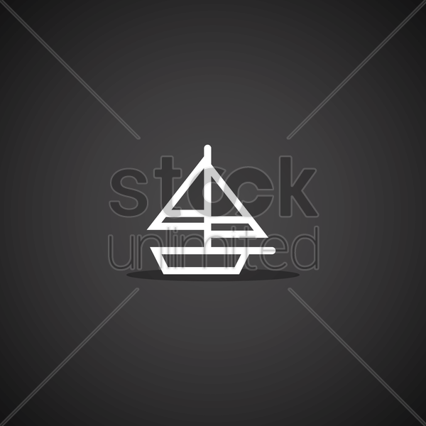 Free sailboat vector graphic