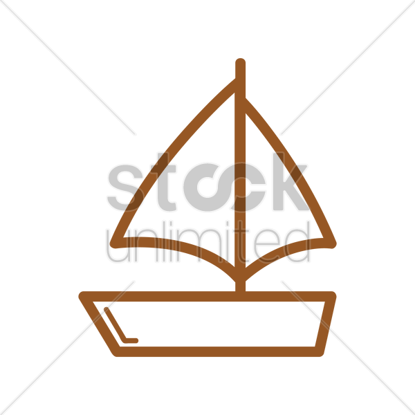 sailboat vector graphic