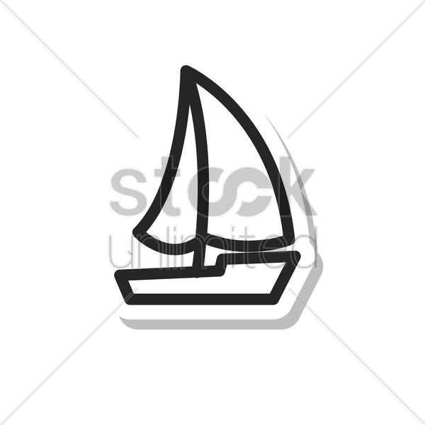 Free sailing boat vector graphic
