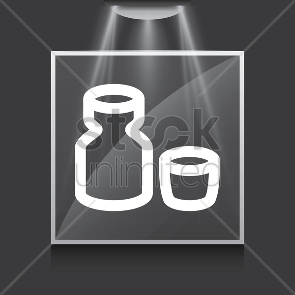 sake and cup vector graphic