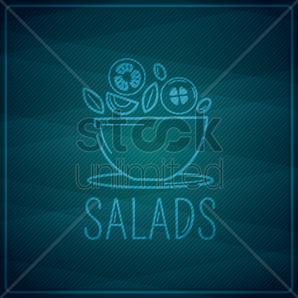 salads vector graphic
