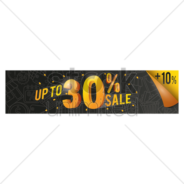 sale banner vector graphic