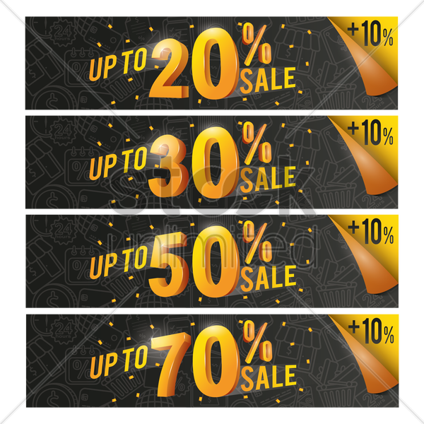 sale banners vector graphic