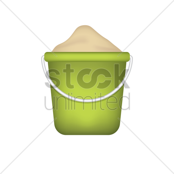 sand pail vector graphic