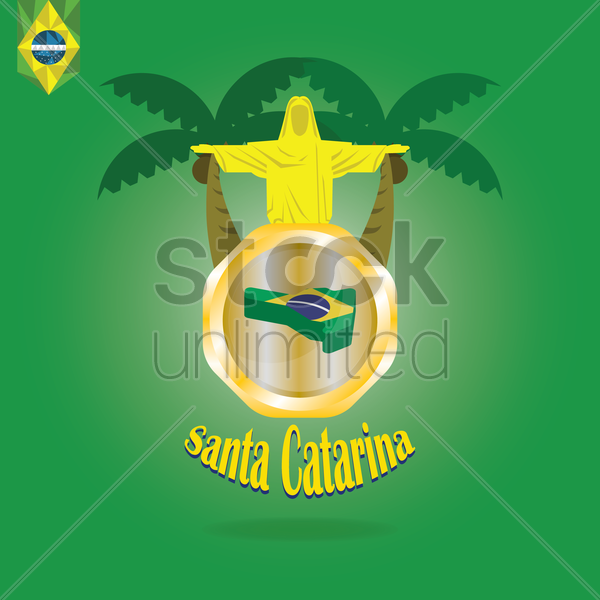 santa catarina map wallpaper vector graphic