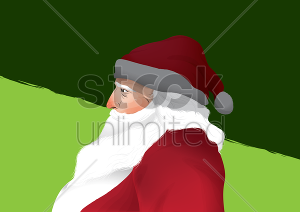 santa claus vector graphic