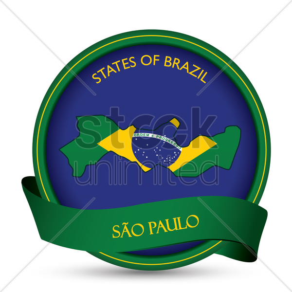 sao paulo map label vector graphic