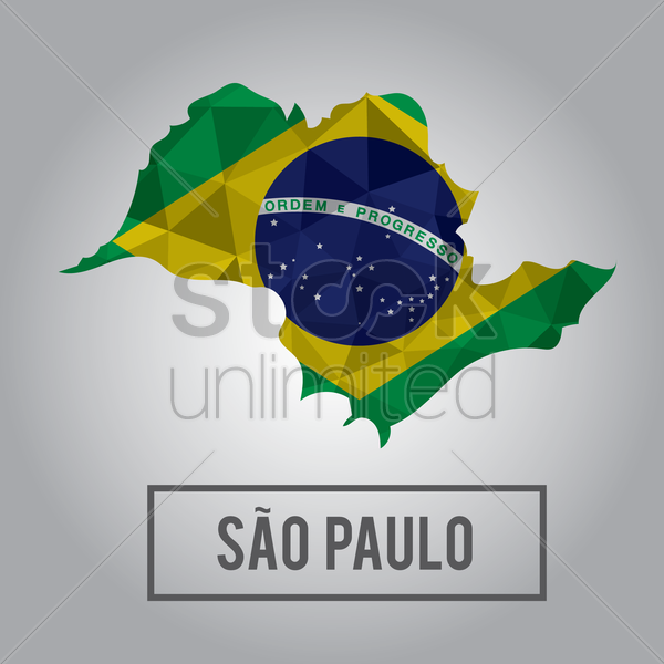 sao paulo state map vector graphic