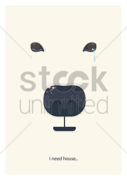 save animal concept vector graphic